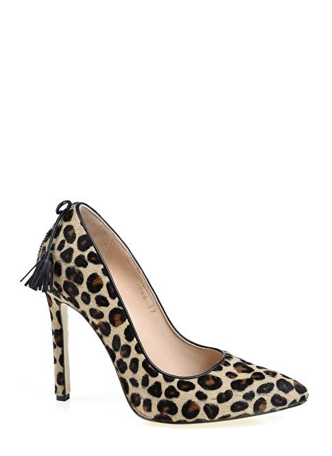 D by Divarese %100 Deri Topuklu Ayakkabı Leopar